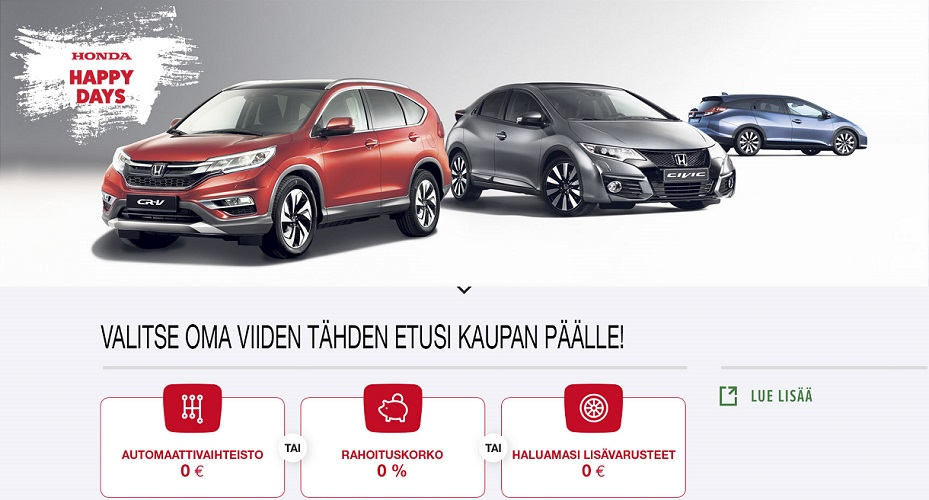 Honda Happy Days 5 T�hden Kampanja